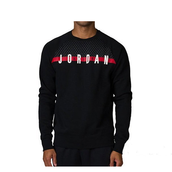【EST S】Nike Jordan Graphic Crew 845390-010 刷毛 大學tee 黑紅 G1117