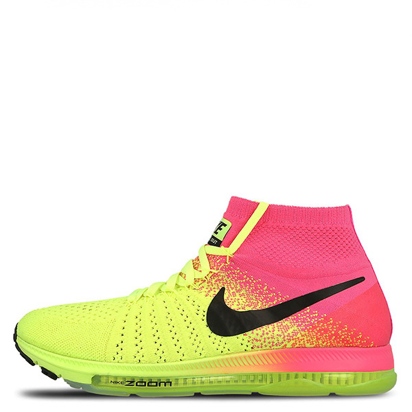【EST S】Nike Zoom All Out Flyknit 845716-999 慢跑鞋 螢光黃桃紅 男鞋 G1116