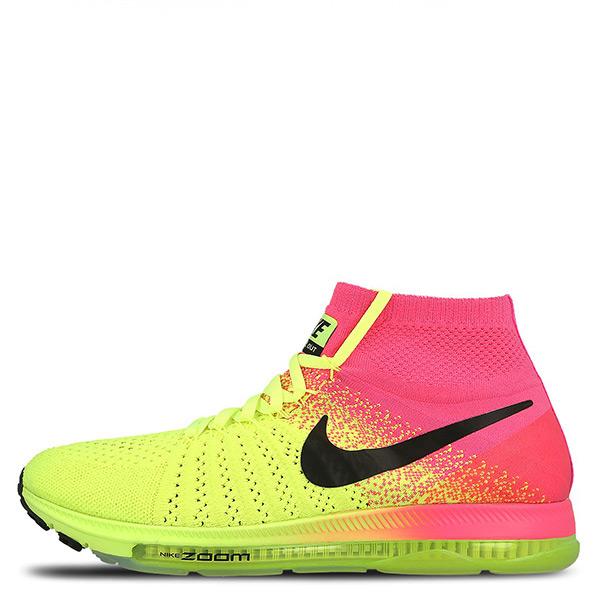【EST S】Nike Zoom All Out Flyknit 845717-999 慢跑鞋 螢光黃桃紅 女鞋 G1116