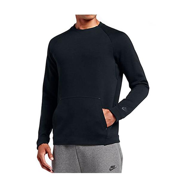 【EST S】Nike Tech Fleece 805141-010 棉質 長Tee 黑色 H0112