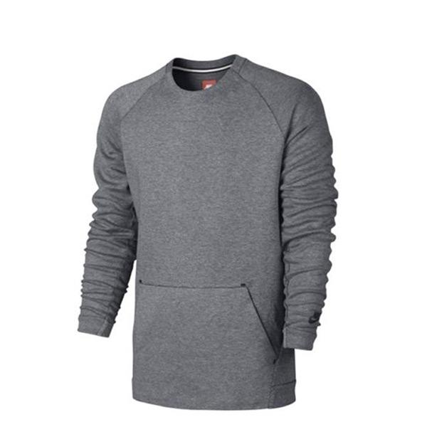 【EST S】Nike Tech Fleece 805141-091 棉質 長Tee 灰色 H0112