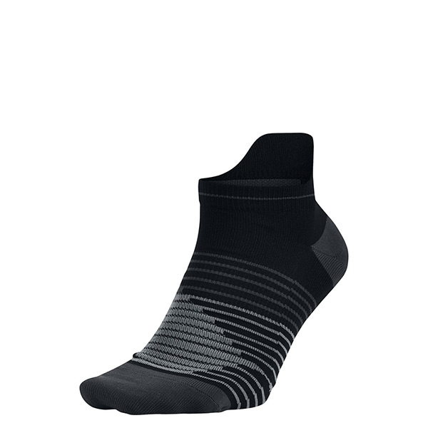 【EST S】Nike Running SX5195-010 快乾襪 隱形襪 條紋 黑灰 H0106