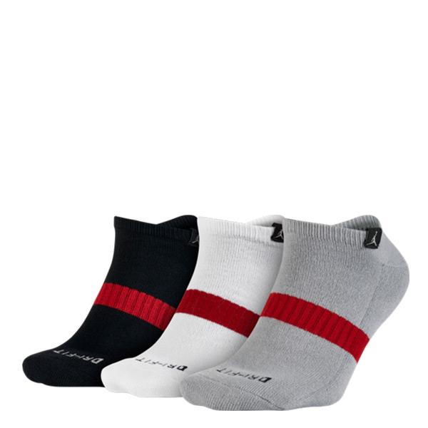 【EST S】Nike Jordan SX5243-011 三入一組 黑白灰 裸襪  H0106