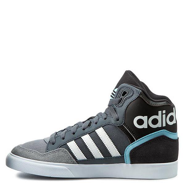【EST S】Adidas Extaball S75001 白條 高筒休閒鞋運動鞋 灰藍 G1026
