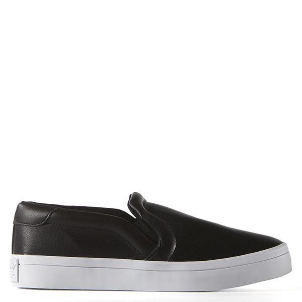 【EST S】Adidas Courtvantage Slip On S75167 皮革 懶人鞋 女鞋 黑 G0818