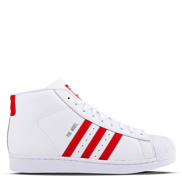 【EST S】Adidas Pro Model S75928 三線 貝殼頭 高筒 白紅 G1026