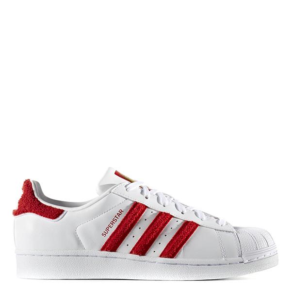 【EST S】Adidas Superstar S76151 毛茸茸 經典金標 白紅 G1028
