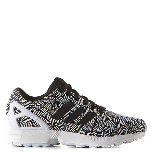 【EST S】Adidas Originals Zx Flux S76583 慢跑鞋 黑灰白 條紋 G1028