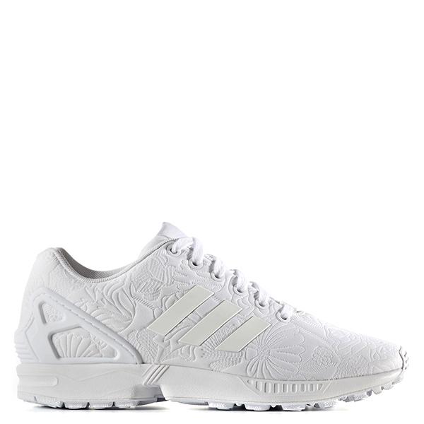 【EST S】Adidas Originals Zx Flux S76590 刺繡 雕花 全白 G1028