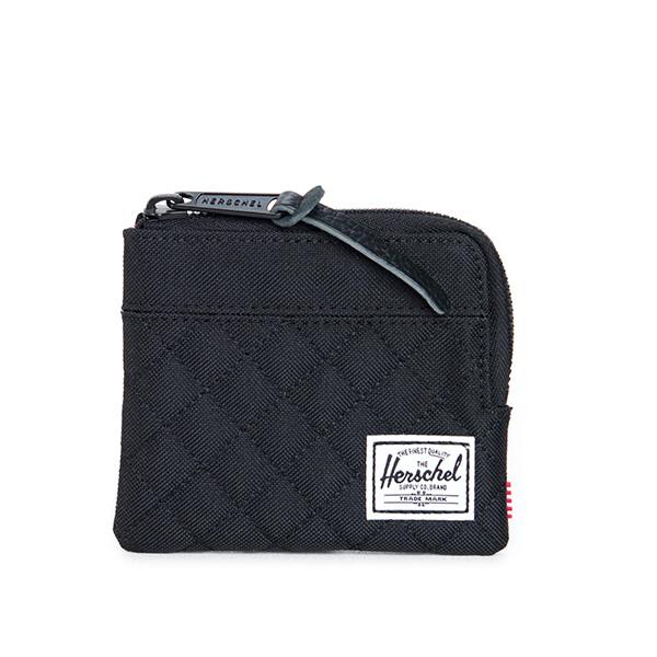 【EST】Herschel Johnny Wallet 小皮夾 零錢包 菱格紋 黑 [HS-0094-866] F1019