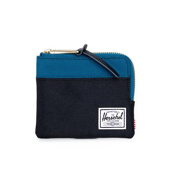 【EST】HERSCHEL JOHNNY WALLET 小皮夾 零錢包 黑藍 [HS-0094-869] F1019