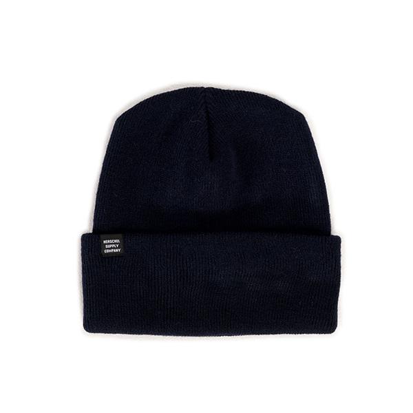 【EST】HERSCHEL FRANKFURT 針織 反摺 毛帽 深藍 [HS-1002-004] F1023
