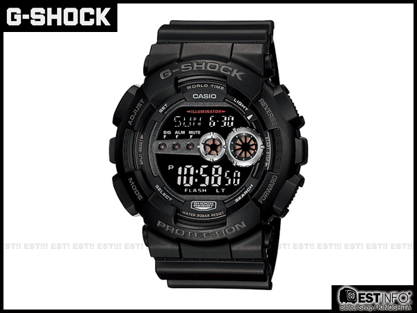 【EST O】G-Shock Baby-G Casio GD-100 卡西歐 防水 賽車 大錶面 手錶 [GD-100-1B] 黑 E0221