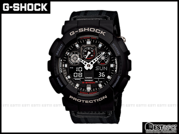【EST O】G-Shock Baby-G Casio GA-100 卡西歐 防水 大錶面 潮流 手錶 [GA-100MC-1A] 黑 E0221