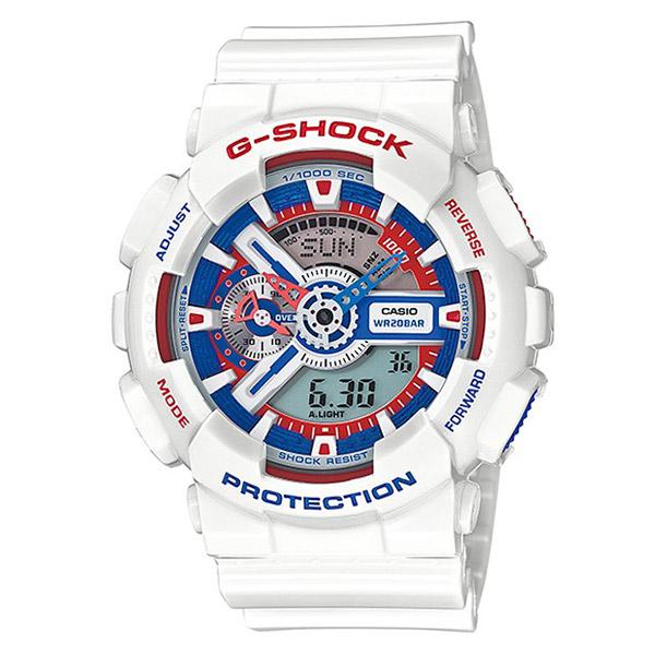 【EST O】G-Shock 鋼彈配色 太陽能 無線電 雙顯 手錶 白紅藍 [GA-110TR-7AJF] F0601