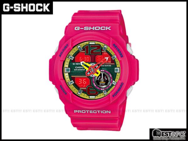 【EST O】G-Shock Baby-G Casio GA-310 卡西歐 防水 賽車 大錶面 手錶 [GA-310-4AJF] 桃紅 E0221