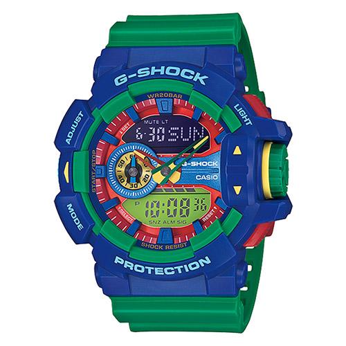 【EST O】G-Shock 雙顯 指針 樂高 大錶面 男錶 手錶 ga-400-2a 藍綠 F0327