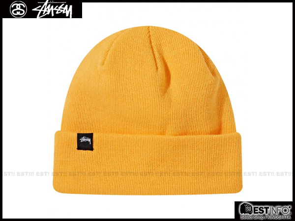 【EST】STUSSY 2013 FW NEON CUFF BEANIE 螢光色 針織 素面 毛帽 [ST-3262] 黃/橘/綠 D1219
