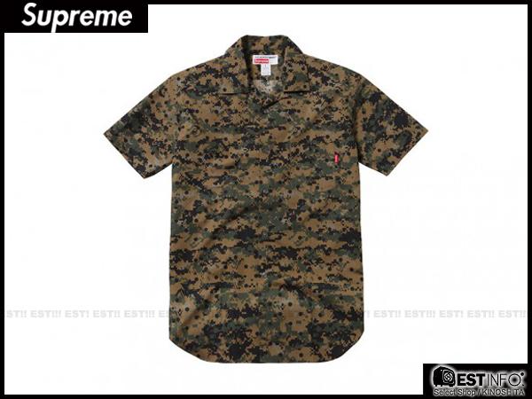 【EST】Supreme X Comme Des Garcons 2013 Cdg 川久保玲 短袖 襯衫 余文樂 [Su-2034] 迷彩 黑點 S~L D0401