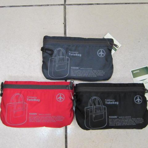~雪黛屋~YESON 折疊收納購物肩背袋 可外掛於行李箱拉桿上並用 備用袋 超輕防水布材質F667深藍
