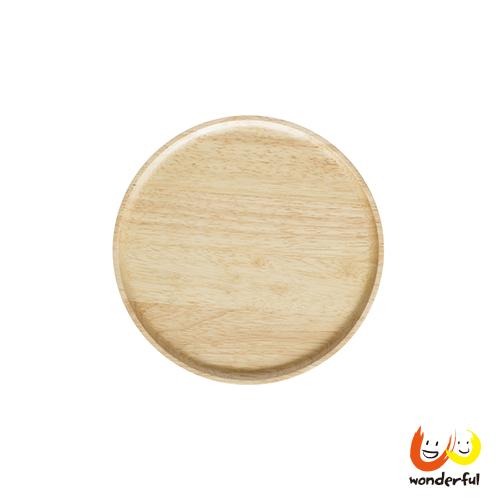 ACACIA 圓形木製餐盤原木色(小)