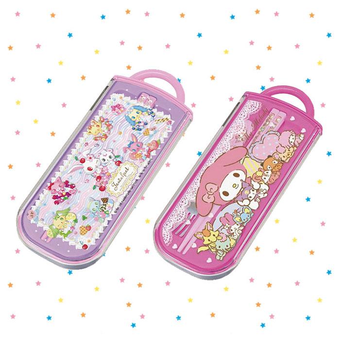 大田倉 日本進口正版 Jewelpet 寶石寵物 My Melody 美樂蒂 餐具組 3合1 兒童餐具