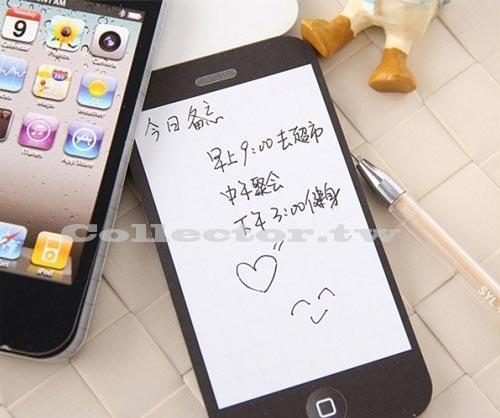 【L13110501】蘋果迷 IPHNE手機造型 創意便條紙 記事本 手機造型留言本 50頁