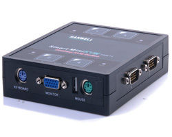 [NOVA成功3C]HANWELL 捍衛科技 SMK14 4-Port 桌上型 PS/2 KVM 電腦切換器