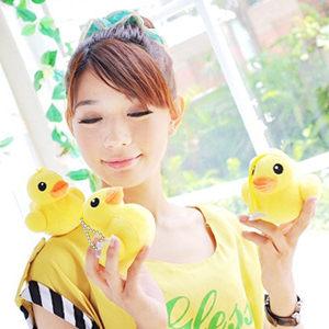 美麗大街【1020907201】黃色小鴨3吋珠鍊吸盤吊飾玩偶