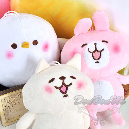 kanahei卡娜赫拉兔子貓咪小雞絨毛玩偶吊飾070512海渡