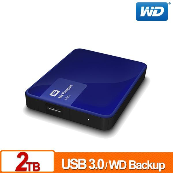 ★綠G能★全新★行動硬碟★WD My Passport Ultra 2TB(貴族藍) USB 3.0 2.5吋行動硬碟 三年保固 請先詢問貨源