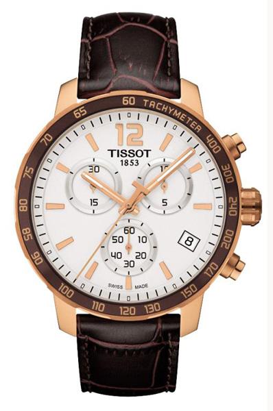 非凡品味TISSOT紳士玫瑰棕 質感三眼碼錶壓紋皮錶帶天梭入門款七天預購+現貨