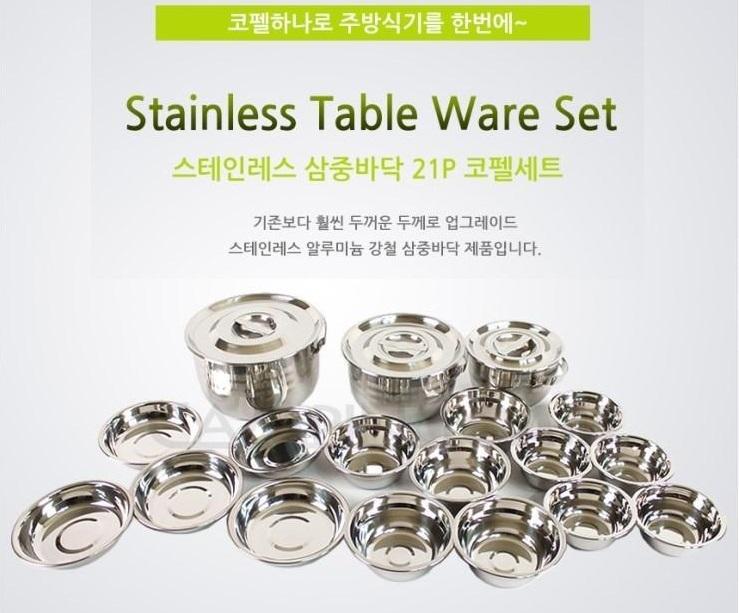 【露營趣】中和 TNR-192 18件不鏽鋼套鍋組 鍋具組 不鏽鋼碗 不鏽鋼盤 碗盤組 露營炊具