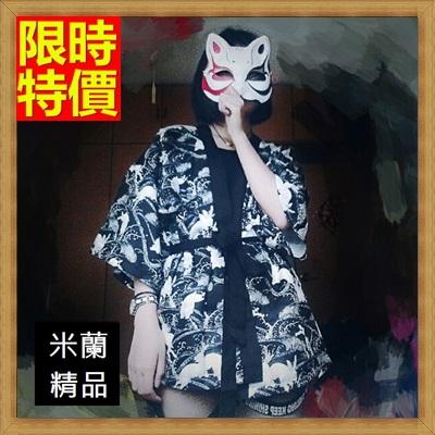 和服外套 和風女罩衫-日式復古玉兔雪紡防曬小外套68af7【日本進口】【米蘭精品】