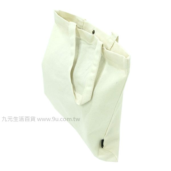 【九元生活百貨】文青原色帆布袋-中 A4文件 購物袋 環保袋