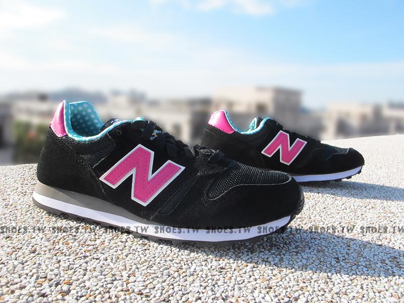 《超值6折》Shoestw【WL373WPG】NEW BALANCE NB 373 復古慢跑鞋 黑紫 N字 點點 女生尺寸 麂皮
