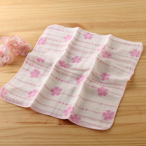 taoru 日本毛巾 和心傳_櫻 25*25 cm (仕女手巾 紗布巾)