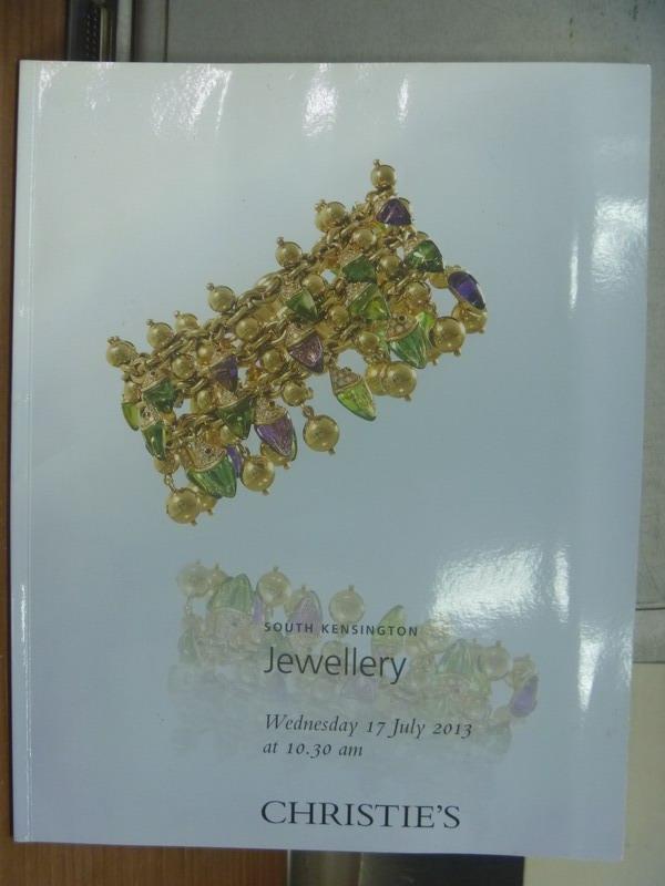 【書寶二手書T5/收藏_PCR】Christie's_2013/7/17_Jewellery