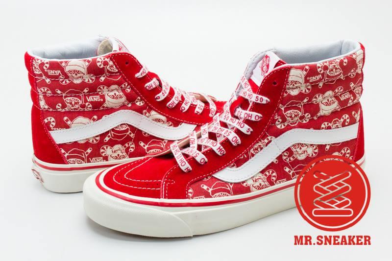 ☆Mr.Sneaker☆ VANS SK8-Hi 高筒 50週年 聖誕節 XMAS 麂皮 限量 紅色 男女段