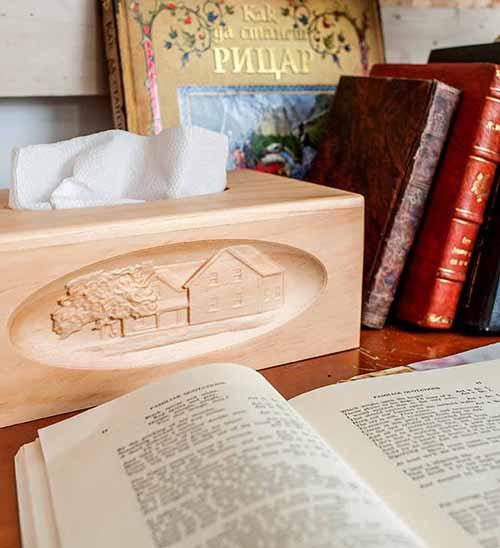 紐松木面紙盒 (大)
