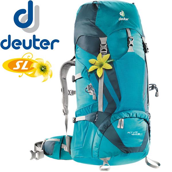 【露營趣】送贈品 德國 deuter ACT LITE 拔熱背包45+10SL 登山背包 登山袋 3340215