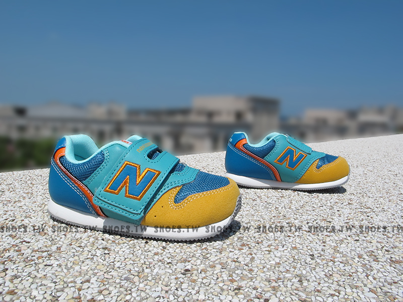 [13.5CM]《超值6折》Shoestw【FS996SGI】NEW BALANCE 996 學布鞋 童鞋 小童鞋 藍黃 TOBY