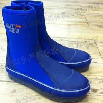 溯溪鞋/防滑套鞋/浮潛鞋/防滑鞋 菜瓜布底 彈性潛水布料 藍 台北山水