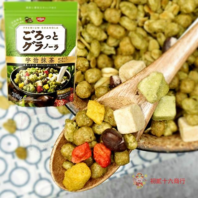 【0216零食會社】日本日清_宇治抹茶麥片_200g