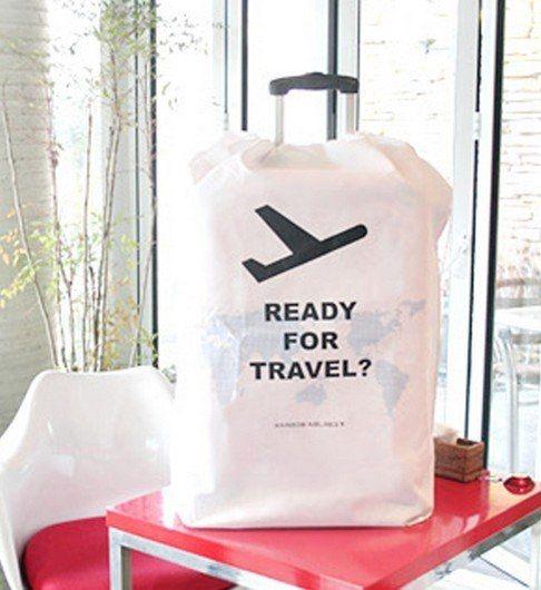 行李箱防塵罩 可收納折疊 (音樂影片購)