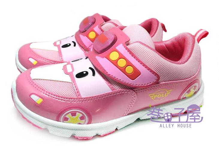 【巷子屋】POLI 波麗 女童電燈運動休閒鞋 [41923] 粉 MIT台灣製造 超值價$198