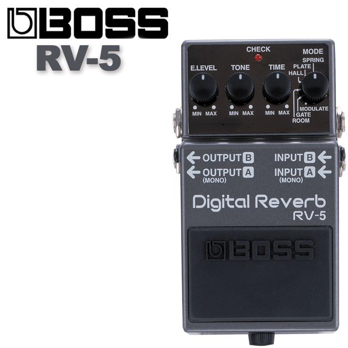 【非凡樂器】BOSS RV-5 Digital Reverb 數位殘響效果器/贈導線