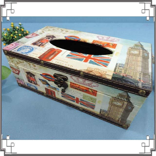 木製帆布面紙盒《PA1》倫敦大笨鐘木製面紙盒 居家布置 新居落成 送禮◤彩虹森林◥