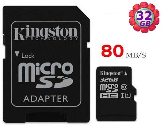 KINGSTON 32GB 32G 金士頓【80MB/s】microSDHC microSD SDHC micro SD UHS-I UHS U1 TF C10 Class10 手機記憶卡 記憶卡