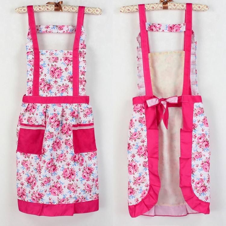 韓版玫瑰防水圍裙
